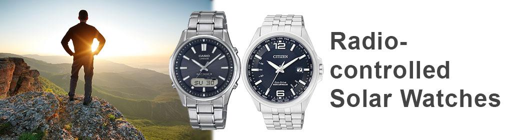 Radio-controlled Solar Watches