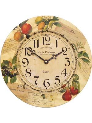Kitchen Clock Roger Lascelles TIN/FRUITS