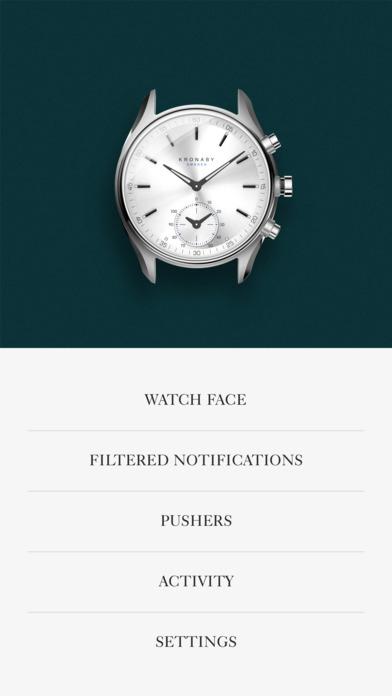 Kronaby App screen