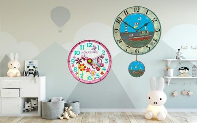 Why does a kids wall clock make independent?