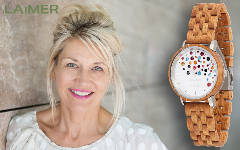 The wooden watch Laimer 0109 Capri for everybody!
