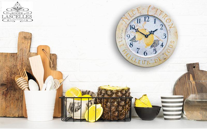 Kitchen clock Roger Lascelles TIN/CITRON