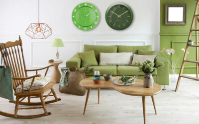 Wall clocks trend: green and retro!