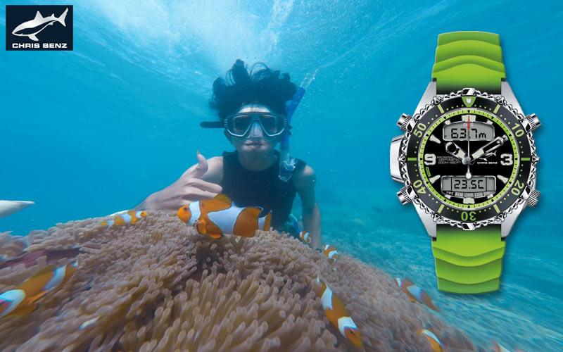 The diver's watch Chris Benz CB-D200X-G-KBG