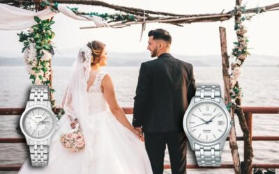 Matching watches for engagement and wedding