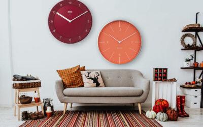 Wall clocks as autumn decoration