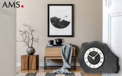 AMS 1104 table clock made of slate