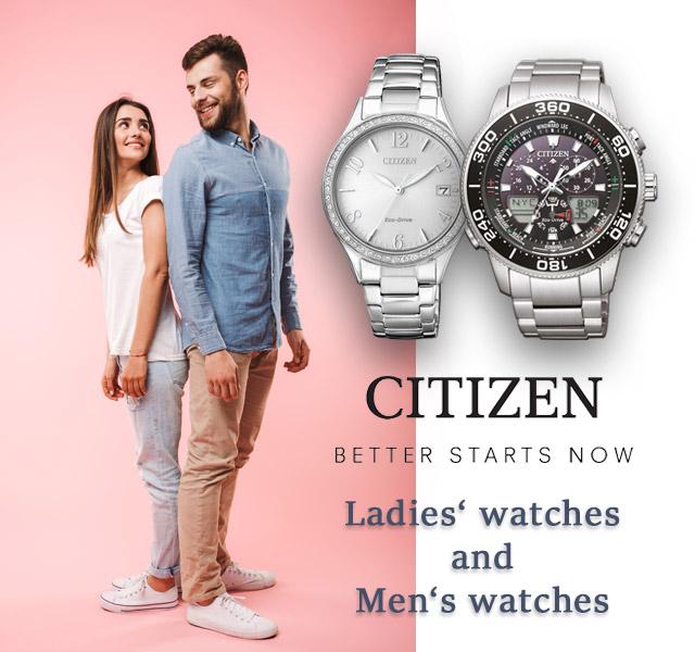 Citizen Ladies' and Men's watches